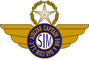Airline Captain For A Day Logo Badge
